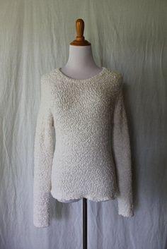 Cotton On Australia Cozy Ivory Boucle Long Raglan Sleeve Loop sweater L #CottonOn #Pullover