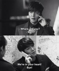 "Lee Min Ho and Kim Woo Bin ♡ #Kdrama - ""HEIRS"" / ""THE INHERITORS"" . hahaha"