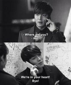 "Lee Min Ho and Kim Woo Bin ♡ #Kdrama - ""HEIRS"" / ""THE INHERITORS"" . hahaha"