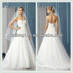 <3333333333 Flashy Sweetheart A line Chapel Train Fully Beaded Bodice Lace Appliques Bottom Tulle Wedding Dress China-in Wedding Dresses from Apparel & ...