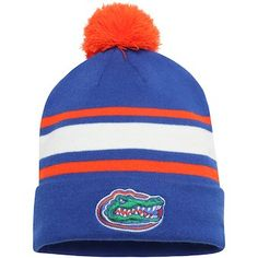 24e16f50 Florida Gators Nike Youth Sideline Cuffed Knit Hat with Pom - Royal/Orange  Florida Gators