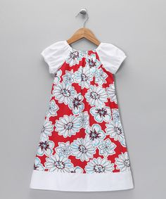 Take a look at this Red & White Floral Dress - Infant, Toddler & Girls  by Peppermint Pony on #zulily today!