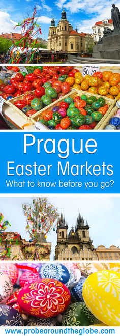 Are you planning a trip in Spring to Prague, the capital of Czech Republic? Read my practical guide about the Prague Easter Markets. What are they like, where to find them and what to expect when you travel to the Prague Easter Market. #easter #prague