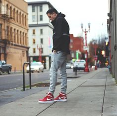 My kind of style. Liking the pants to the shoes to the jacket. Killing it man.
