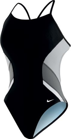 NIKE SWIM Poly Team Splice Cut-Out Tanks (Black (001))