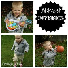 Alphabet Olympics {Playdough to Plato}
