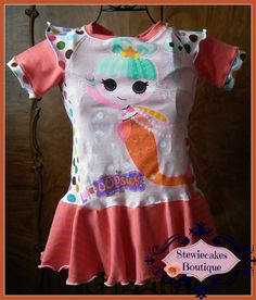 Mermaid Upcycle Tee Dress Size 4T by stewiecakes on Etsy, $40.00