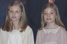 Pin for Later: The Best Photos of the Spanish Royal Family in 2015  Princess Leonor and Infanta Sofía smile for the cameras.