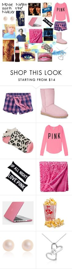 """Movie Night/ Sleepover with Niall!"" by one-direction-fantic ❤ liked on Polyvore featuring American Eagle Outfitters, UGG Australia, Billabong, Victoria's Secret PINK, Chanel, Victoria's Secret, Xhilaration, Speck, Payne and Blue Nile"