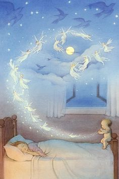 :: Sweet Illustrated Storytime :: Illustration of fairy moon dreams Fantasy Kunst, Fantasy Art, Fairy Art, Children's Book Illustration, Belle Photo, Faeries, Illustrators, Fairy Tales, Drawings
