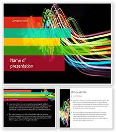 http://www.poweredtemplate.com/11217/0/index.html Streaming Lights PowerPoint Template