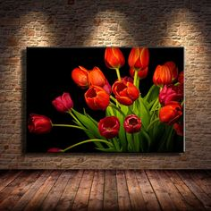2019 Red Tulips,Home Decor HD Printed Modern Art Painting On Canvas Unframed/Fra. - 2019 Red Tulips,Home Decor HD Printed Modern Art Painting On Canvas Unframed/Framed From - Tulip Painting, Flower Painting Canvas, Diy Painting, Art Painting Flowers, Modern Art Paintings, Red Tulips, Abstract Flowers, Flower Wallpaper, House Painting
