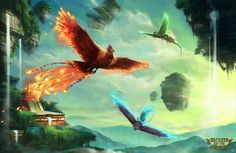 Secrets of the Phoenix by Roggles.deviantart.com on @deviantART Really interesting to see more than one, solo phoenix imagined