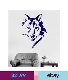 Decals, Stickers & Vinyl Art Vinyl Wall Decal Wolf Head Animal Tribal Art Room Decor Stickers (Ig4146) #ebay #Home & Garden