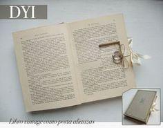 Boda Bella: DIY: Libro vintage como porta alianzas y sorteo