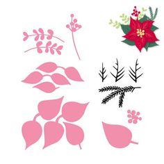 Marianne Design - Collectablies Die - Eline's Poinsettia (with stamp)