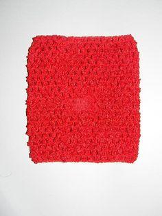 RED Crochet Tutu Top in 6 inch Baby Girls No Sew Tutu DIY Dress Piece Tutorial Band Headband Make it Yourself Handmade tied tutu dresses by HandpickedHandmade, $1.45
