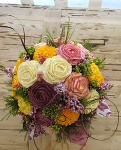 magnificent #cupcake bouquet with buttercream flowers. #cakes #weddings #party ideas    www.facebook.com/thehiddenkitchenct