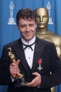 "Russell Crowe  Best Actor in 2001  for ""Gladiator"" #winning :)"