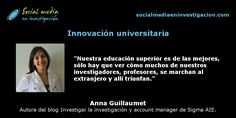Charlando con Anna Guillaumet sobre innovación universitaria. #Universidades #InnovaciónTecnológica
