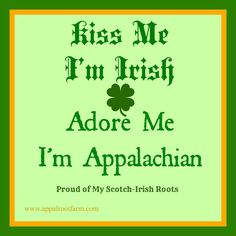 Just for fun on St. Patrick's Day!