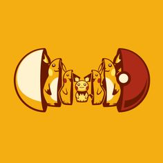 Electric Type (Pichu, Pikachu, Raichu) // Poketryoshka: Pokemon Nesting Dolls by Michael Myers #art #illustration #pokemon