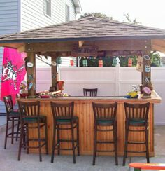 Tiki bar on pinterest tiki bars tiki hut and tiki decor for How to build a beach bar