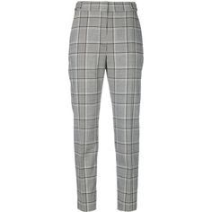 Alexander Wang plaid trousers (£370) ❤ liked on Polyvore featuring pants, bottoms, trousers, jeans, pantalon, black, plaid pants, high waisted cropped trousers, patterned trousers and high waisted trousers
