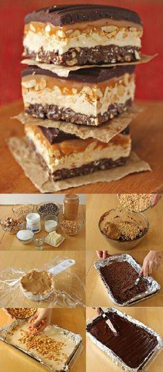 DIY Homemade Crispy Candy Bars