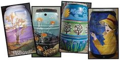 Painted Rain Barrels