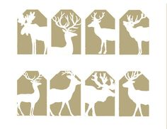 Reindeer Christmas Gift Tags Collage Sheet ,Digital Download. $3,99, via Etsy.