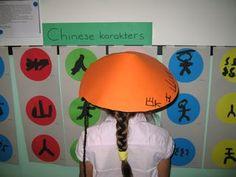 chinees hoedje - deel van een cirkel  chinese karakters - symbolen - vormen