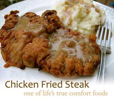 my favorite chicken fried steak recipe! I love that it uses hot sauce for the extra kick. I make it with steak, chicken, and veal! All great!