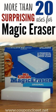 25 Uses for Mr. Clean Magic Erasers - I didn't know magic erasers could be used for so many things.