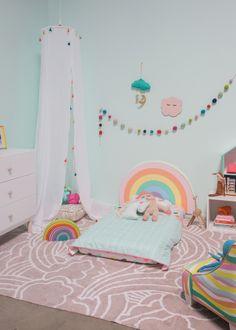 Pattern Adventures: A Rainbow Bedroom Pattern Adventures: A Rainbow Bedroom! / via Oh Joy! The post Pattern Adventures: A Rainbow Bedroom appeared first on Toddlers Diy. Rainbow Room Kids, Rainbow Bedroom, Baby Room Decor, Bedroom Decor, Bedroom Ideas, Scandinavian Bedroom, Little Girl Rooms, Kids Decor, Kids Room