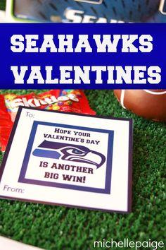 michelle paige: Seattle Seahawks Football Valentines