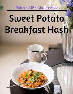 Sweet Potato Breakfast Hash, Breakfast Potatoes, Paleo Breakfast, Breakfast Recipes, Potato Hash, Clean Eating, Healthy Eating, Health Blog, Elimination Diet Recipes