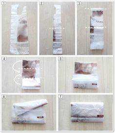 レジ袋・ビニール袋のたたみ方と、6つの収納方法 | メグメグの好奇心♪♪ 収納インテリア