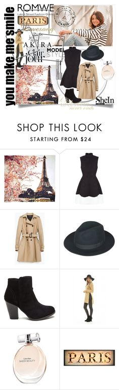 """""""Paris style"""" by emma2000rad ❤ liked on Polyvore featuring Fay et Fille, AX Paris, Zara, Calvin Klein and Sisley Paris"""