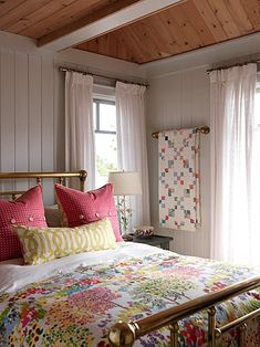 Sarah Richardson Design - Sarah's Cottage - I still think the 'quilt bar' is genius - steal this IDEA!