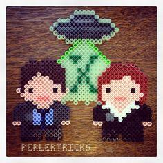 X-Files original perler design by perlertricks (by HarmonArt2)