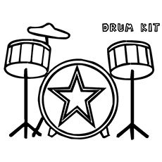 Musical Instruments Kids Coloring Pages Free Colouring