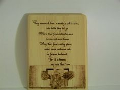 Memorial by TonyandLyndie on Etsy, $8.00