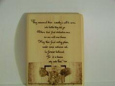 Memorial by TonyandLyndie on Etsy, $8.00