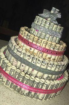 trendy birthday gifts for daughter money cake Birthday Goals, 14th Birthday, Sweet 16 Birthday, Diy Birthday, Happy Birthday, 16 Birthday Cake, Birthday Quotes, Birthday Presents, 13th Birthday Parties