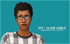 """poppet-sims: """"3t2 - Close Curls• original texture with v2 colours • all ages and both genders • binned with grey linked to black >> Download credit: trapping and ea """""""