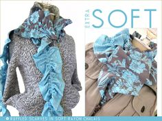 Long Ruffled Scarf in Luxurious Rayon | Sew4Home