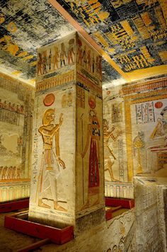 🍒 Mortuary room of Seti Ancient Egyptian Architecture, Ancient Egyptian Artifacts, Ancient Egypt History, Ancient Egypt Pharaohs, Ancient Aliens, Ancient Greece, Egypt Wallpaper, Papyrus, Old Egypt