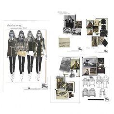 Fashion Sketchbook - fashion design of a capsule collection based on the RAF in the first World War - mood board & fashion illustrations; fashion portfolio // Emma Dobson
