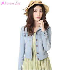 Fashion Women Denim Jacket Plus Size S-4XL Vintage Cropped Short Denim Jackets Long-Sleeve Jeans Cardigan Coat Light/Deep Blue -  Check Best Price for. This Online shop give you the information of finest and low cost which integrated super save shipping f